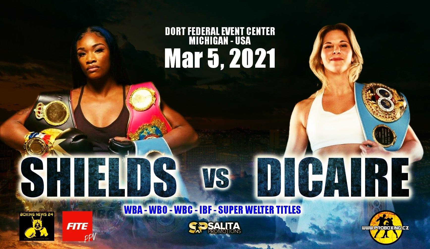 Shields vs Dicaire  - FITE TV - March 5
