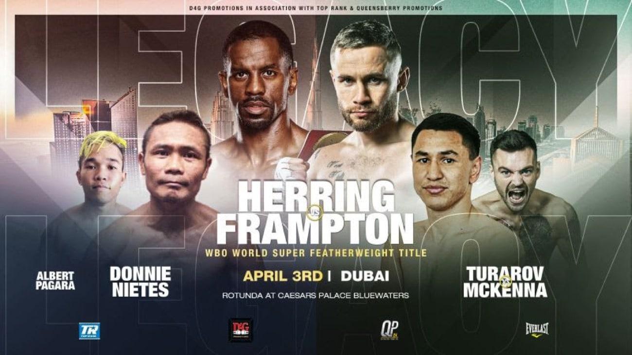 Herring vs Frampton - BT Sport, ESPN - April 3