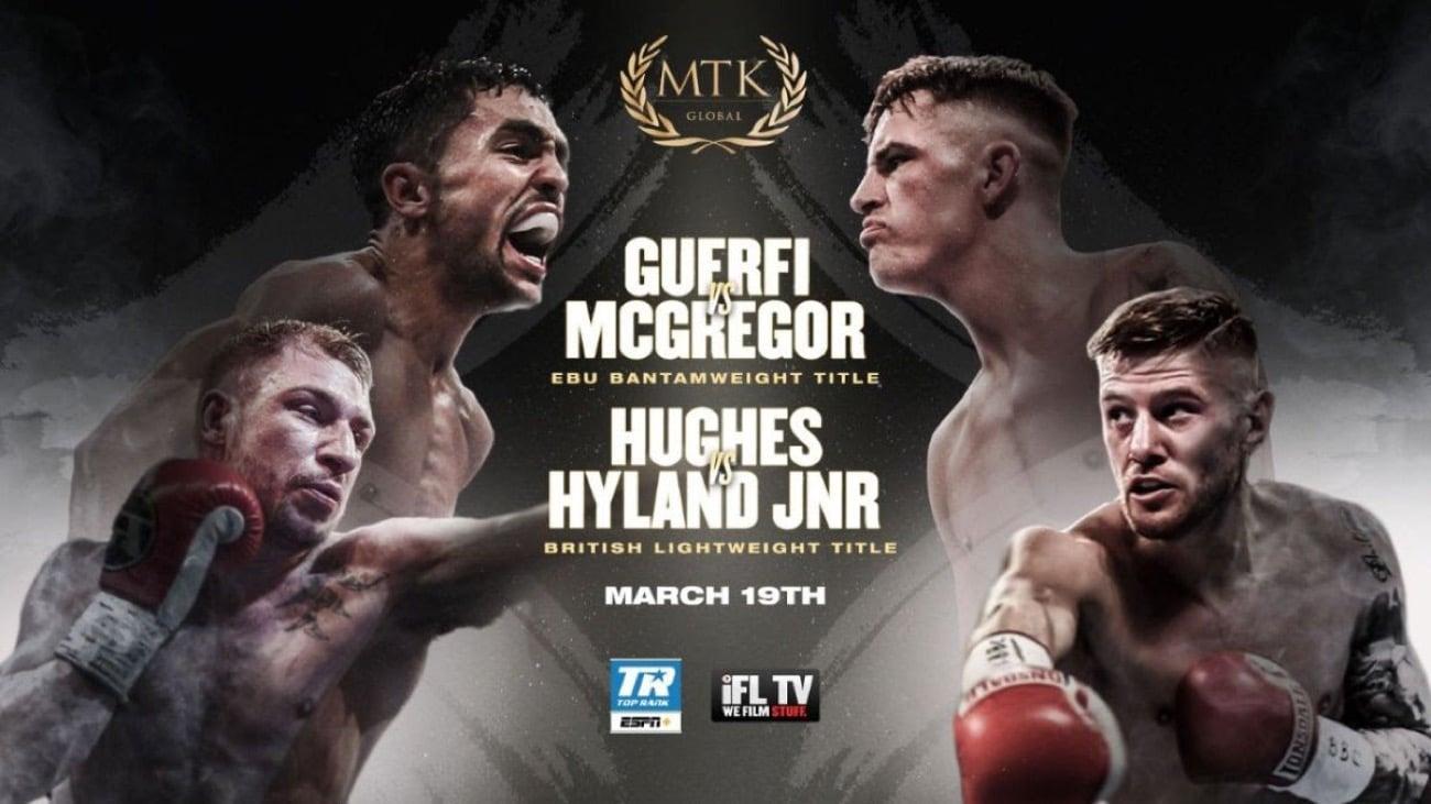 Guerfi vs McGregor - IFL, ESPN+ - March 19
