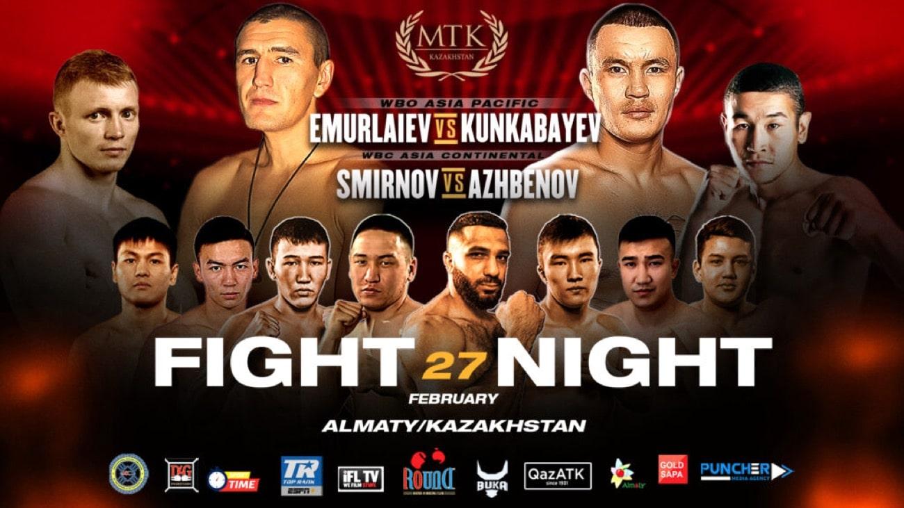 Kunkabayev vs Emurlaiev - IFL, ESPN+ - Feb. 27