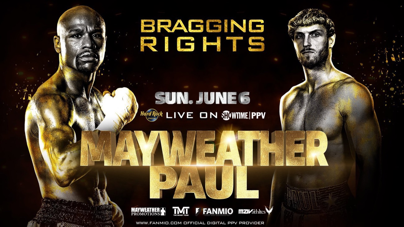 Mayweather Vs Logan Paul – Showtime – June 6