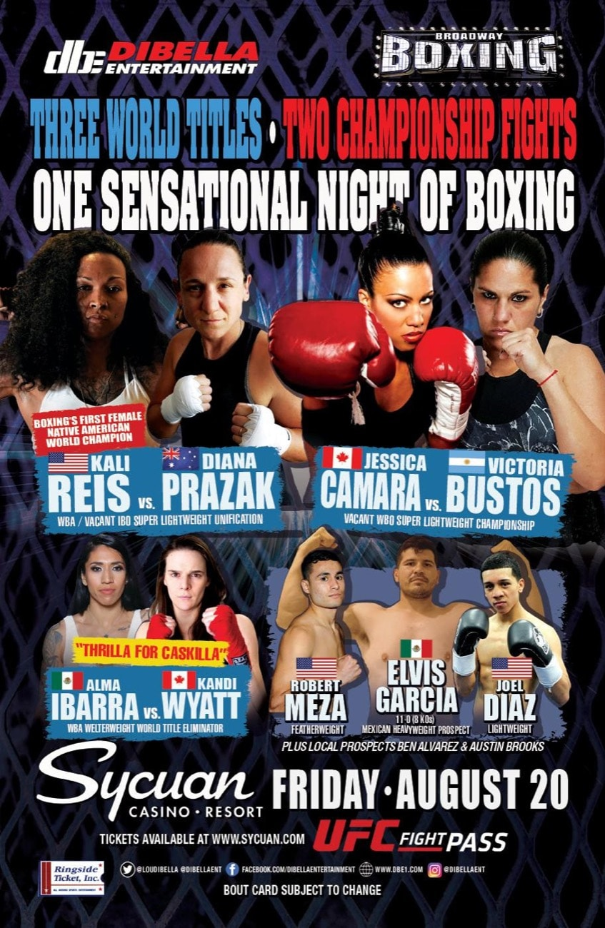 Reis vs Prazak - UFC Fight Pass - Aug. 20 - 8 pm ET