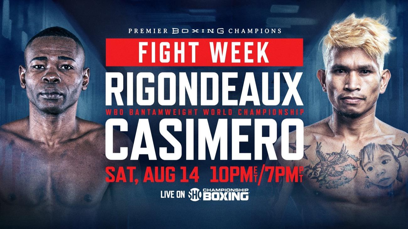 Rigondeaux vs Casimero - Showtime - Aug. 14 - 9 pm ET