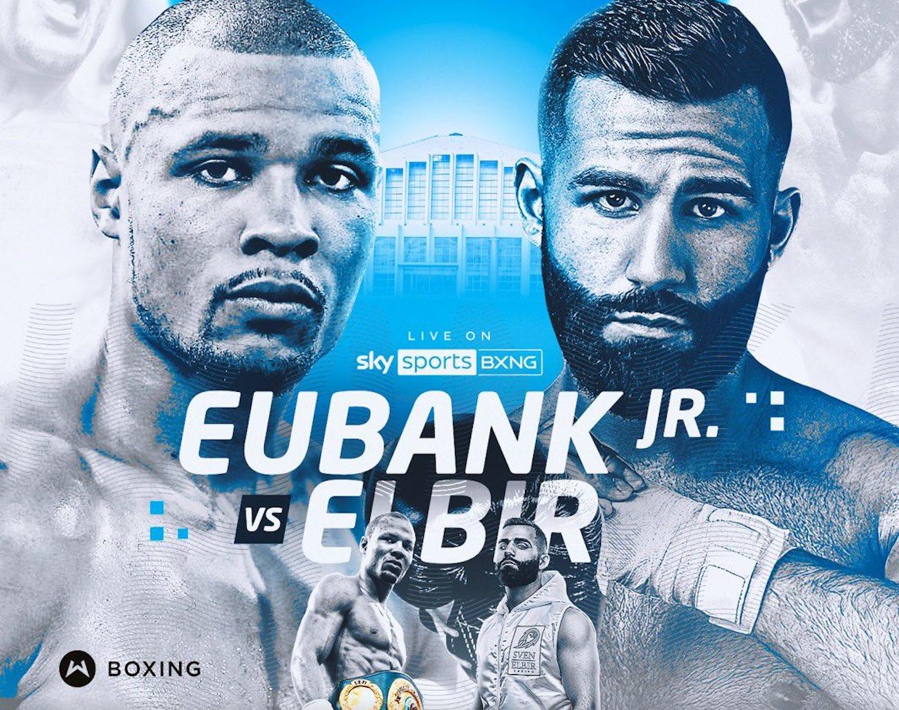 Eubank vs Elbir - Sky Sports - October 2 - 2 pm ET