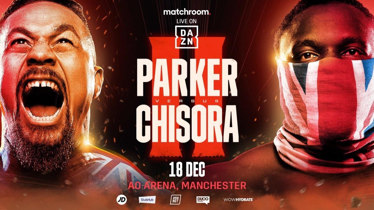 Chisora vs Parker 2 - DAZN - December 18 - 2 pm ET