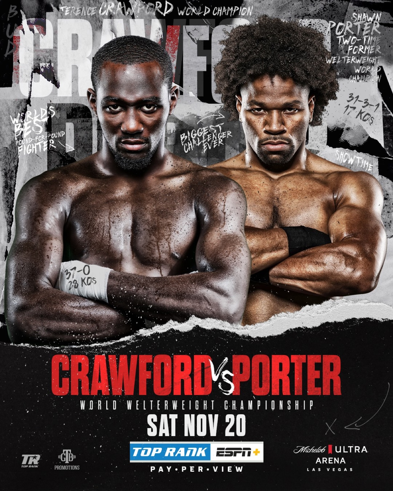 Crawford vs Porter - ESPN+ - Nov. 20 - 9 pm ET