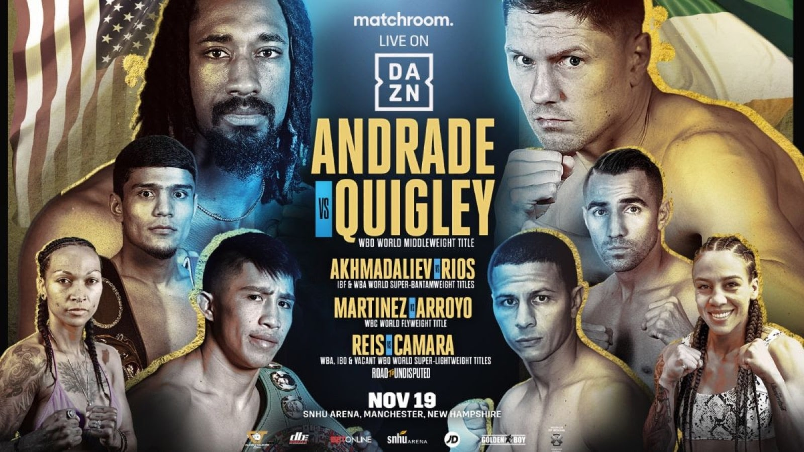 Andrade vs Quigley - DAZN - Nov 19 - 9 pm ET
