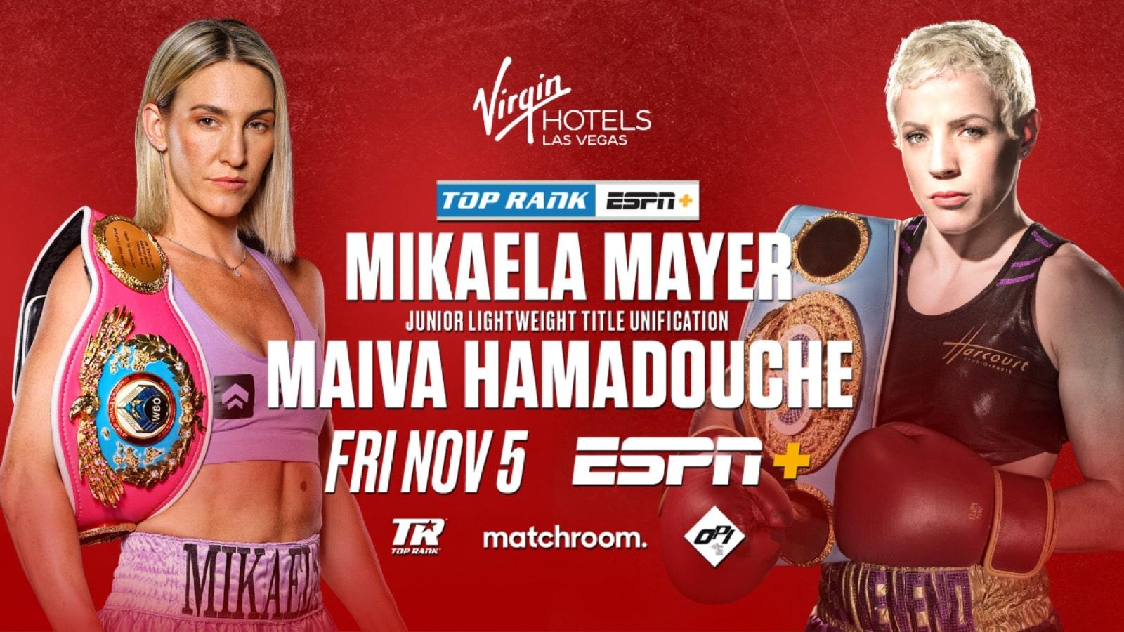 Mayer vs Hamadouche - ESPN+ - Nov. 5 - 11 pm ET